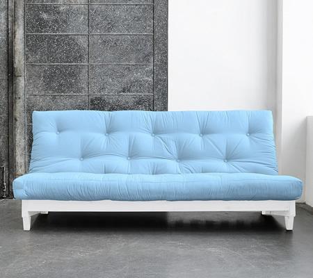 Canapea extensibila albastra fara brate