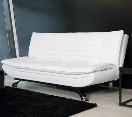 Canapea extensibila piele alba