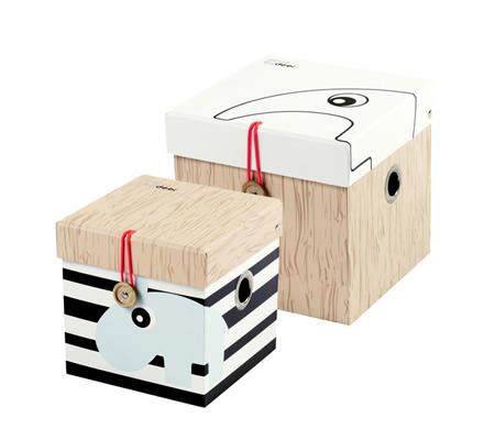 Cutii depozitare carton cu capac
