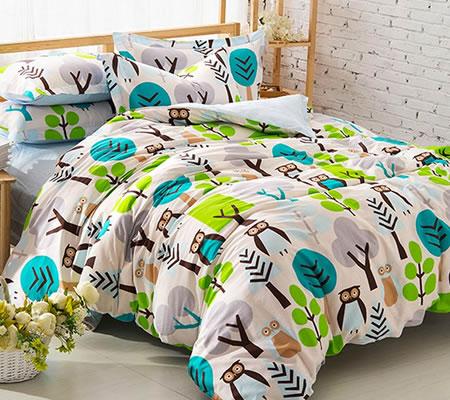 Lenjerie de pat cu bufnite pentru copii