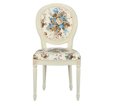 Scaun living tapitat cu motive florale